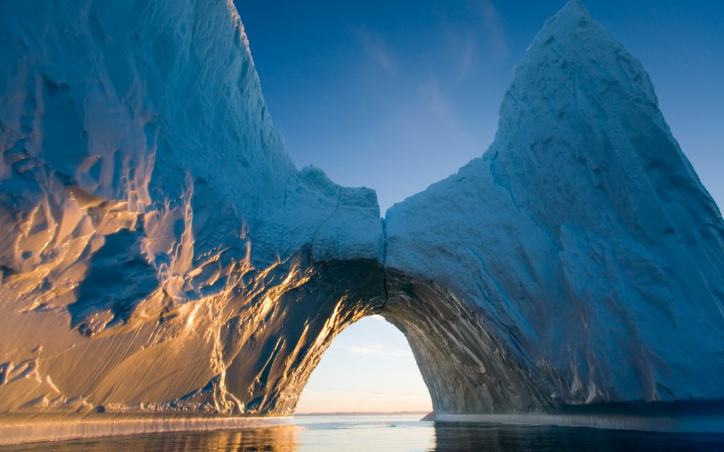Arched Iceberg in Ililussat, Greenland